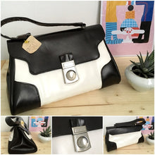 Load image into Gallery viewer, 1960s - Deadstock! - Fabulous Dark Brown & White Handbag