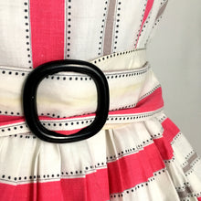 Load image into Gallery viewer, 1950s - Spectacular Pink & White Dotted Belted Dress - W28 (72cm)