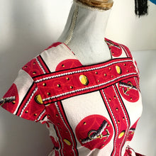 Load image into Gallery viewer, 1950s - Anchors Novelty Print Cotton Dress - W27 (68cm)