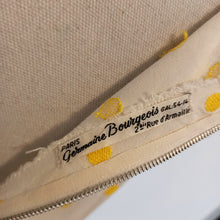 Load image into Gallery viewer, 1940s - Germaine Bourgeois, Paris - Adorable Yellow Dots Rayon Dress - W31 (79cm)