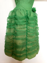 Load image into Gallery viewer, Early 1960s - Deadstock - Fabulous Green Organza Dress - W28 (70cm)