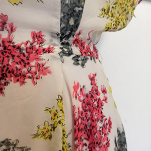1940s 1950s - Gorgeous Floral Sheer Full Skirt Dress - W26 (66cm)
