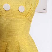 Load image into Gallery viewer, 1950s 1960s - AS IS - Super Cute Yellow Dress - W25 (64cm)