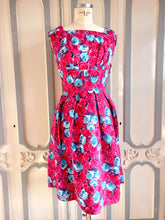 Load image into Gallery viewer, 1950s - Stunning Removable Collar Floral Dress - W27 (68cm)
