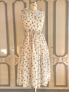 1950s - Champagne Stoppers Novelty Print Nylon Sheer Dress - W26 (66cm)