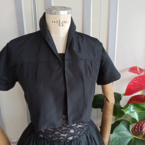 1950s - Stunning Pink & Black Bolero Dress - W30 (76cm)