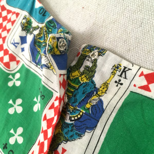 1940s 1950s - Stunning Playing Cards Novelty Print Dress - W31.5 (80cm)