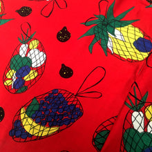 Charger l'image dans la galerie, 1950s - Spectacular Novelty Print Fruits Full Circle Skirt - W26 (66cm)