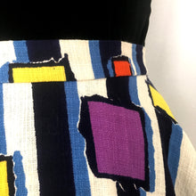 Load image into Gallery viewer, 1950s - Fabulous Abstract Full Circle Barkcloth Skirt - W27 (68cm)