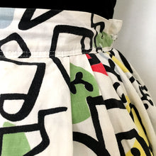 Load image into Gallery viewer, 1950s - Spectacular Joan Miró Print Cotton Skirt - W27 (68cm)