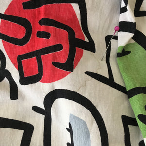 1950s - Spectacular Joan Miró Print Cotton Skirt - W27 (68cm)