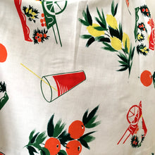 Load image into Gallery viewer, 1950s - Spectacular Lemons & Orange Juice Novelty Print Skirt - W26 (66cm)