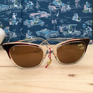 1950s - DEADSTOCK - FILTRAL, Germany - Two Tone Sunglasses