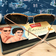 Load image into Gallery viewer, 1950s - DEADSTOCK - Primetta, Germany - White Feather Sunglasses