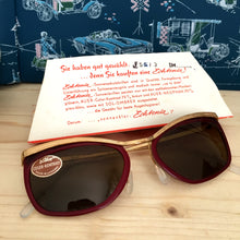 Load image into Gallery viewer, 1950s 1960s - DEADSTOCK - Echtenia, Germany - Wine Color Sunglasses