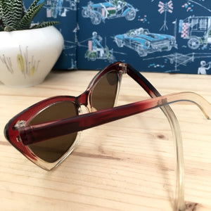 1950s - DEADSTOCK - AUER, Germany - Two Tone Cat-Eye Sunglasses