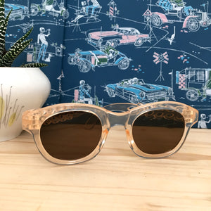 1940s - DEADSTOCK - Translucent Celluloite Sunglasses - (XS or kids!)