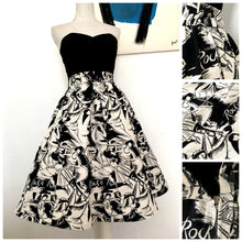 Load image into Gallery viewer, 1950s - Collector's Rock & Roll Barkcloth Skirt - W27.5 (70cm)