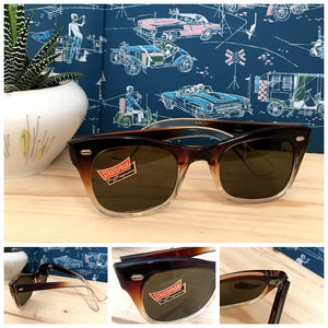 1950s - DEADSTOCK - STRATOPHAN, Germany - Two Tone Rockabilly Sunglasses