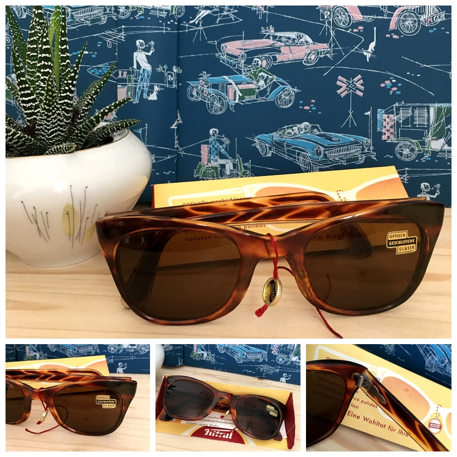 Copy of 1950s - DEADSTOCK - FILTRAL, Germany - Brown Sunglasses