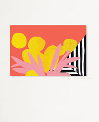 Lemon Riviera Art Print