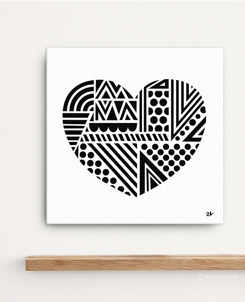 Piece of My Heart Canvas Print