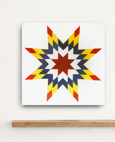 Quilted Star Canvas Print