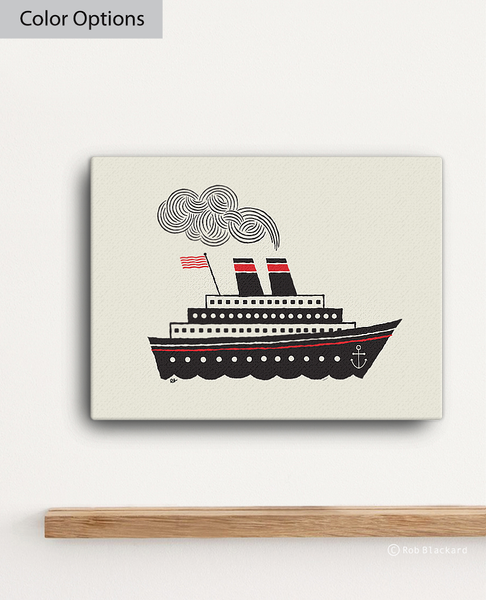 Steamship Canvas Print