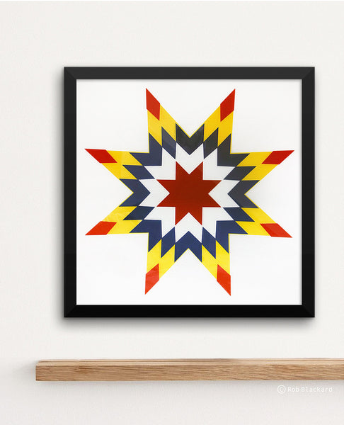 Quilted Star Art Print