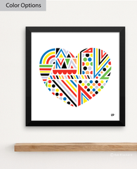 Piece of My Heart Art Print