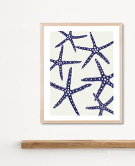 Indigo Starfish Art Print