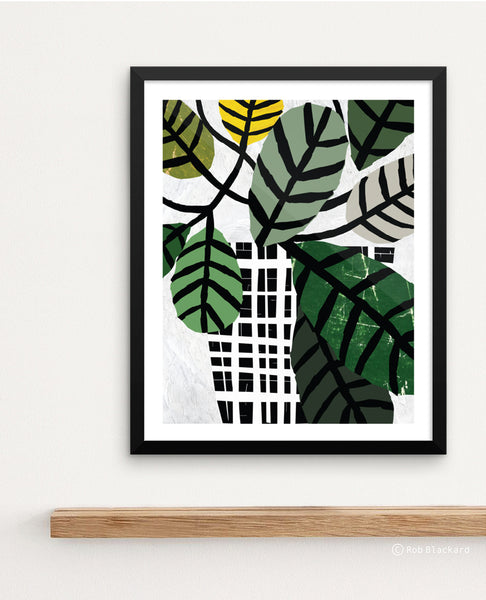 Wax Leaf Plant Art Print