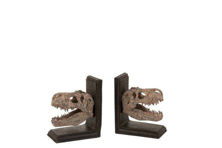 Set of 2 Dinosaur Bookends