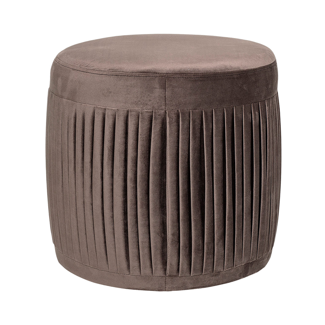 Pleated Pouffe Brown
