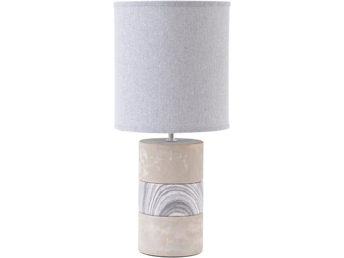 Concrete & Porcelain Table Lamp