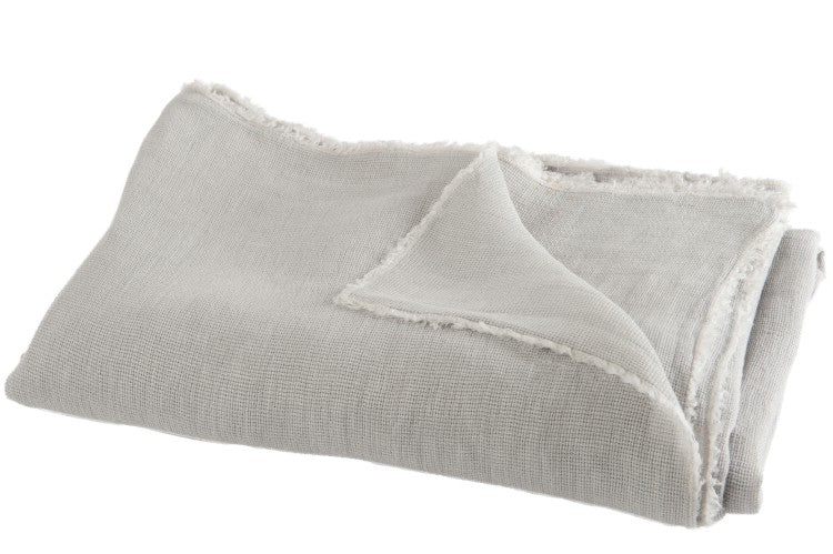 Stonewashed Linen Mix Throw