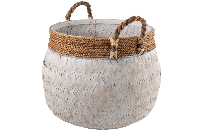 Bamboo & Rope Basket