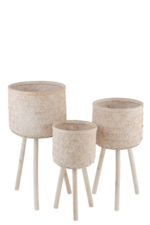 Set of 3 Planters - Natural
