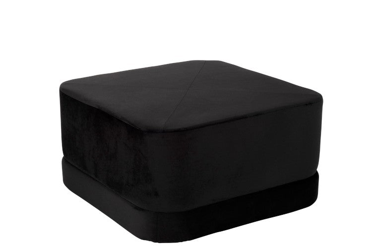 Black Square Footstool