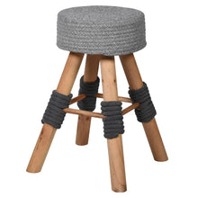 Load image into Gallery viewer, Grey Woven Top Stool
