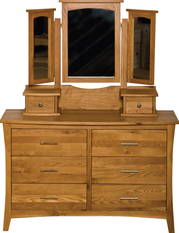 Denver 6 Drawer Wide Chest & Mirror