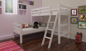 Eric Corner Bunk Bed White