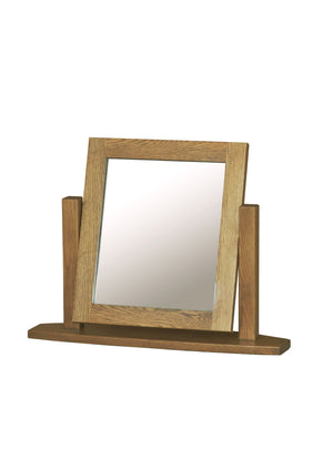 French Oak Single Mirror