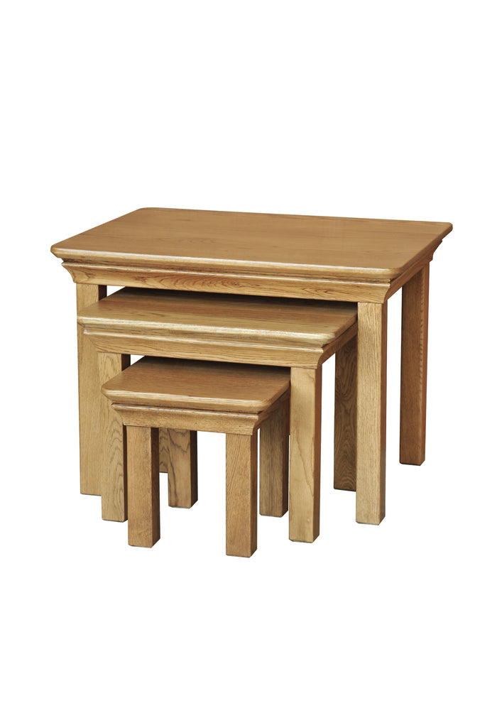 French Oak Nest of Tables