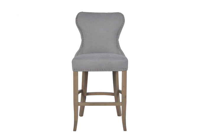 Gibson Grey Buttoned Back Bar Stool