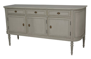 Vintage 3 Door Sideboard – Grey with Gold Distress