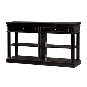 Black Fayence Shelf Buffet