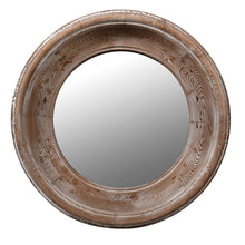 Load image into Gallery viewer, Emma Round Wooden Mirror