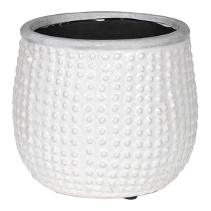 Dotty White Planter