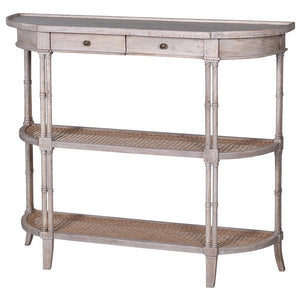 Imperial 2 Drawer Rattan Console Table